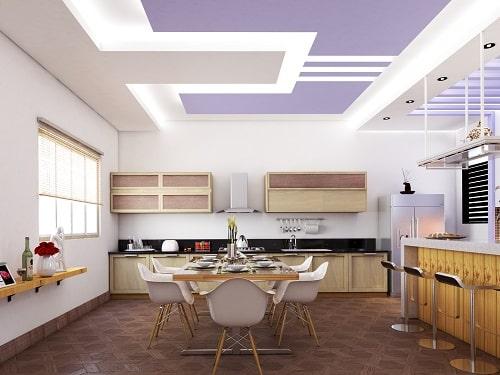 Mẫu trần thạch cao đẹp cho phòng bếp 2