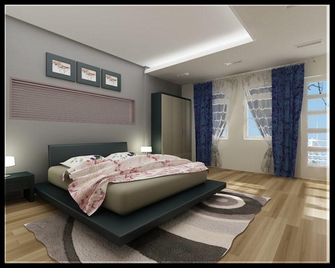 Mẫu trần thạch cao đẹp cho phòng ngủ sang trọng - 1