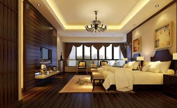 Mẫu trần thạch cao đẹp cho phòng ngủ sang trọng - 3