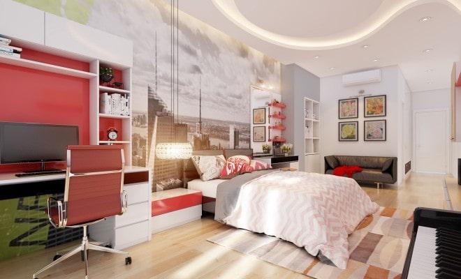 Mẫu trần thạch cao đẹp cho phòng ngủ sang trọng - 4