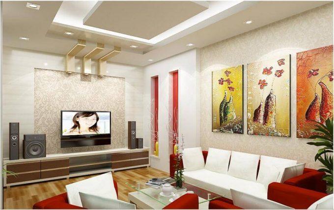Thiết kế trần thạch cao chống cháy cho nhà phố hiện đại - 1