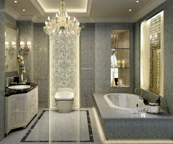 Thiết kế trần thạch cao chịu nước cho phòng tắm biệt thự - 1