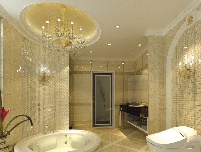 Thiết kế trần thạch cao chịu nước cho phòng tắm biệt thự - 2