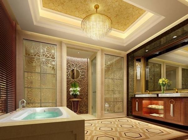 Thiết kế trần thạch cao chịu nước cho phòng tắm biệt thự - 4