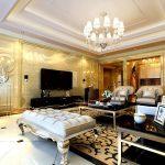 Trần thạch cao biệt thự đẹp cho phòng khách
