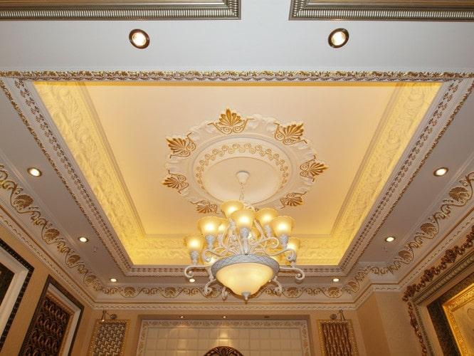 Thiết kế trần thạch cao cho phòng khách biệt thự sang trọng - 2