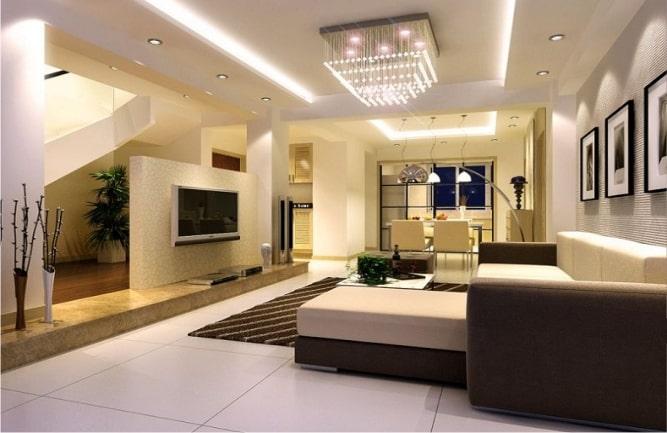 Thiết kế trần thạch cao cho phòng khách biệt thự sang trọng - 3