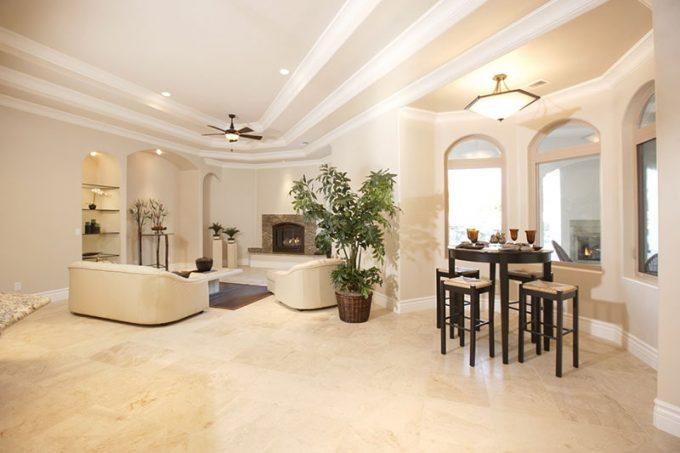 Trần thạch cao biệt thự đẹp cho phòng khách - 5