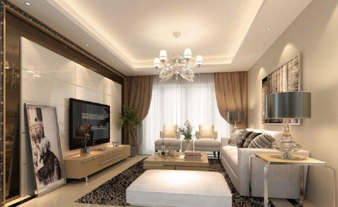 Thiết kế trần thạch cao đẹp cho phòng khách căn hộ chung cư - 1