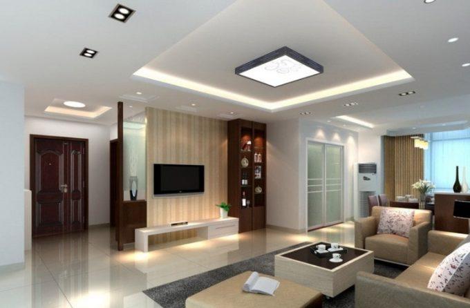 Thiết kế trần thạch cao đẹp cho phòng khách căn hộ chung cư - 4