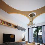 Thiết kế trần thạch cao đẹp cho phòng khách căn hộ chung cư