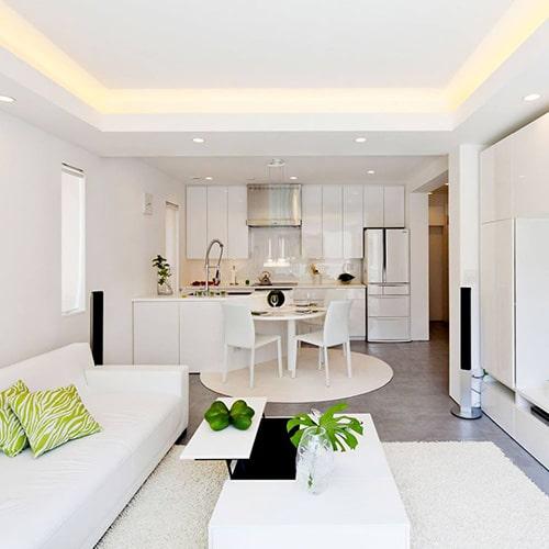 Thiết kế trần thạch cao đẹp cho phòng khách căn hộ chung cư - 2