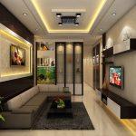 Thiết kế trần thạch cao cho phòng khách nhà phố hiện đại
