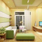 Thi công trần thạch cao cho nhà phố phòng khách nhỏ