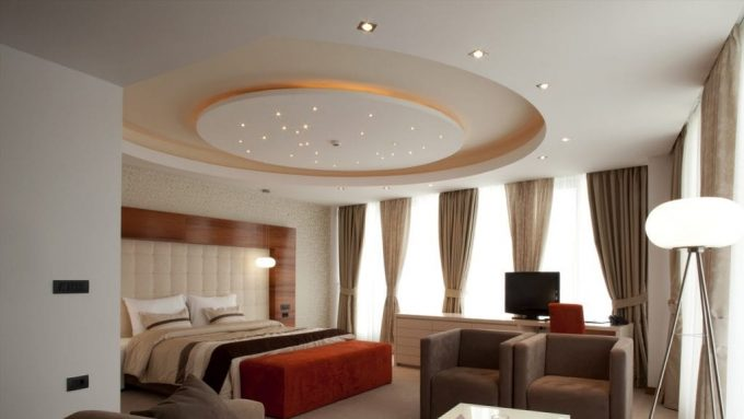 Thiết kế trần thạch cao nhà phố với hệ thống đèn led âm trần - 2