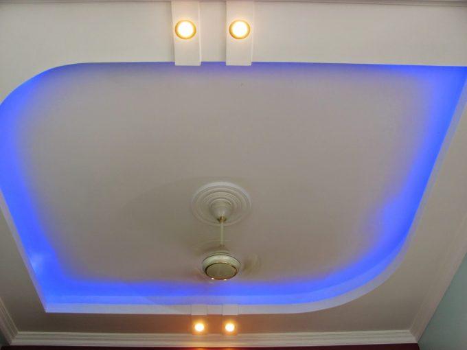 Thiết kế trần thạch cao nhà phố với hệ thống đèn led âm trần - 3