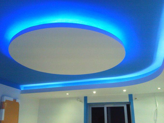 Thiết kế trần thạch cao nhà phố với hệ thống đèn led âm trần - 4