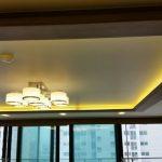 Thiết kế trần thạch cao nhà phố với hệ thống đèn LED âm trần