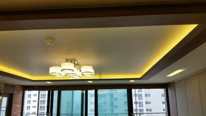 Thiết kế trần thạch cao nhà phố với hệ thống đèn led âm trần - 5