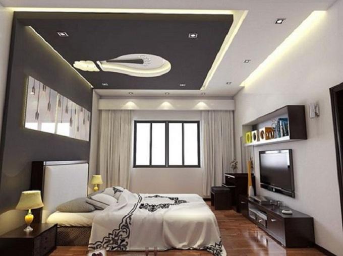 Thiết kế trần thạch cao phòng ngủ
