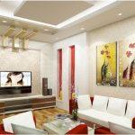 Thiết kế trần thạch cao phòng khách tránh tà khí