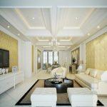 Gợi ý mẫu trần thạch cao phòng khách nhà ống đẹp